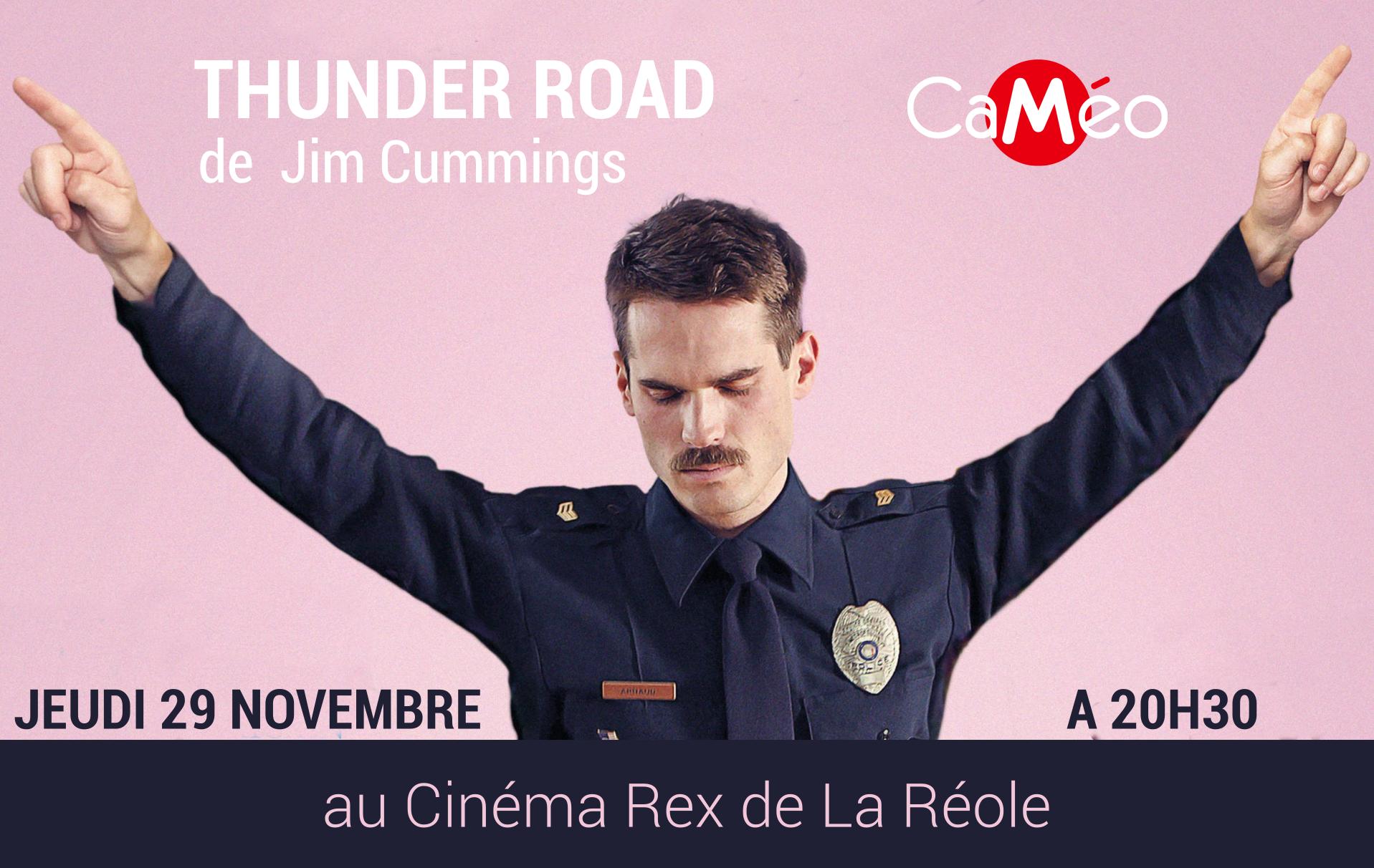 Thunder Road - Soirée de rentrée CaMéo à la Réole